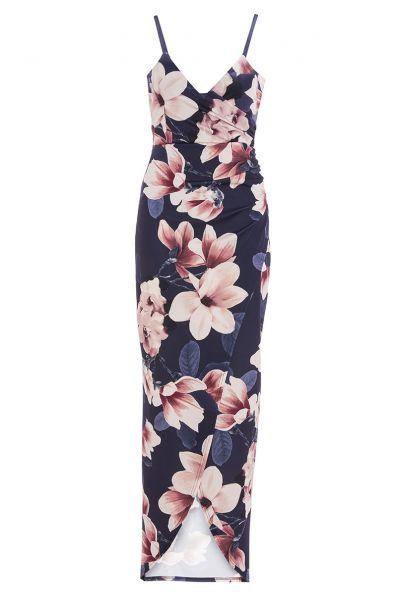 vestido-largo-azul-marino-y-rosa-de-tirantes-con-estampado-de-flores-00100014262