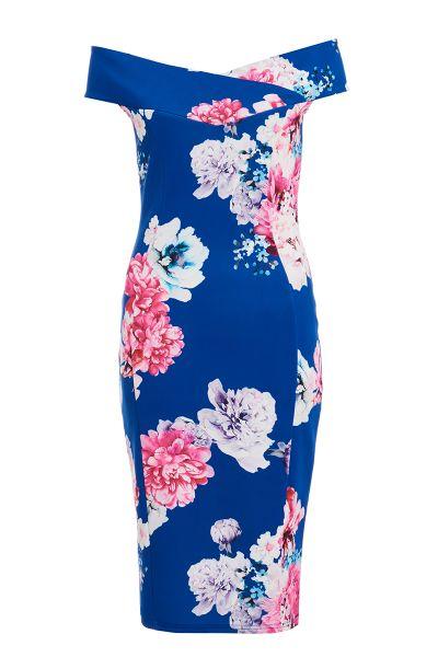 vestido-midi-azul-rey-con-estampado-de-flores-00100014754